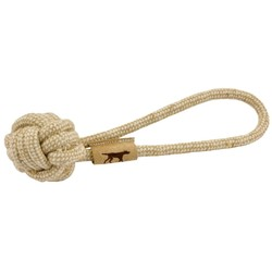 """Natural Cotton & Jute Rope Tug Toy - 13"""""""