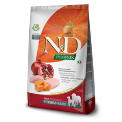 N&D Pumpkin Grain Free Dog Chicken & Pomegranate Med/Max