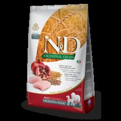 N&D Ancestral Low Grain Dog Chicken & Pomegranate Med Max