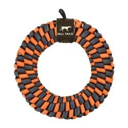 "Braided 5"" Ring - Orange & Charcoal"
