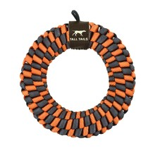"Braided 6"" Ring - Orange & Soft Grey"
