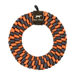 "Braided 6"" Ring - Orange & Soft Grey"