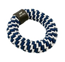 "Braided 6"" Ring - Navy Blue & Soft Grey"