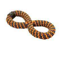 "Braided 11"" Infinity Tug - Orange & Soft Grey"