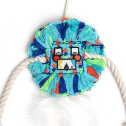 Cat Toy Square Face Little Monster Blue