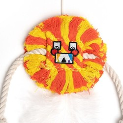 Cat Toy Square Face Little Monster Yellow