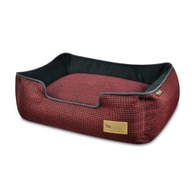 Lounge Bed Houndstooth Cayenne Red