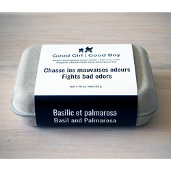 Basil and Palmarosa Organic Soap 135 gr