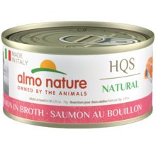 HQS Natural Salmon in Broth Made in Italy  70g