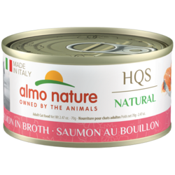 HQS Natural Salmon in Broth 70g