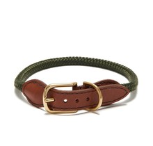 Adjustable Rope Collar Olive