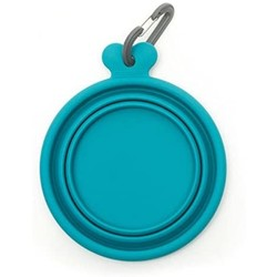 Silicone Collapsible Bowl Blue