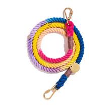 Light Prismatic Ombre Cotton Rope Dog Leash