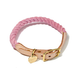 Blush Cotton Rope Cat & Dog Collar