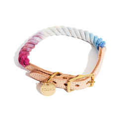 Mood Ring Ombre Cotton Rope Cat & Dog Collar