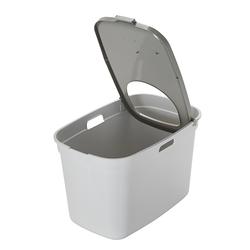Top Cat Closed Litter Box White & Warm Grey