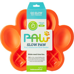 PAW 2-1 Slow Feeder - Orange