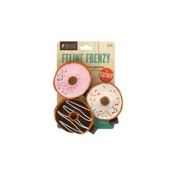 Feline Frenzy Plush Catnip - Kitty Kreme Doughnuts 3 Pk