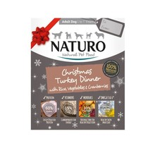 Naturo Canine Adult Christmas Turkey Dinner with Rice, Vegetables & Cranberries