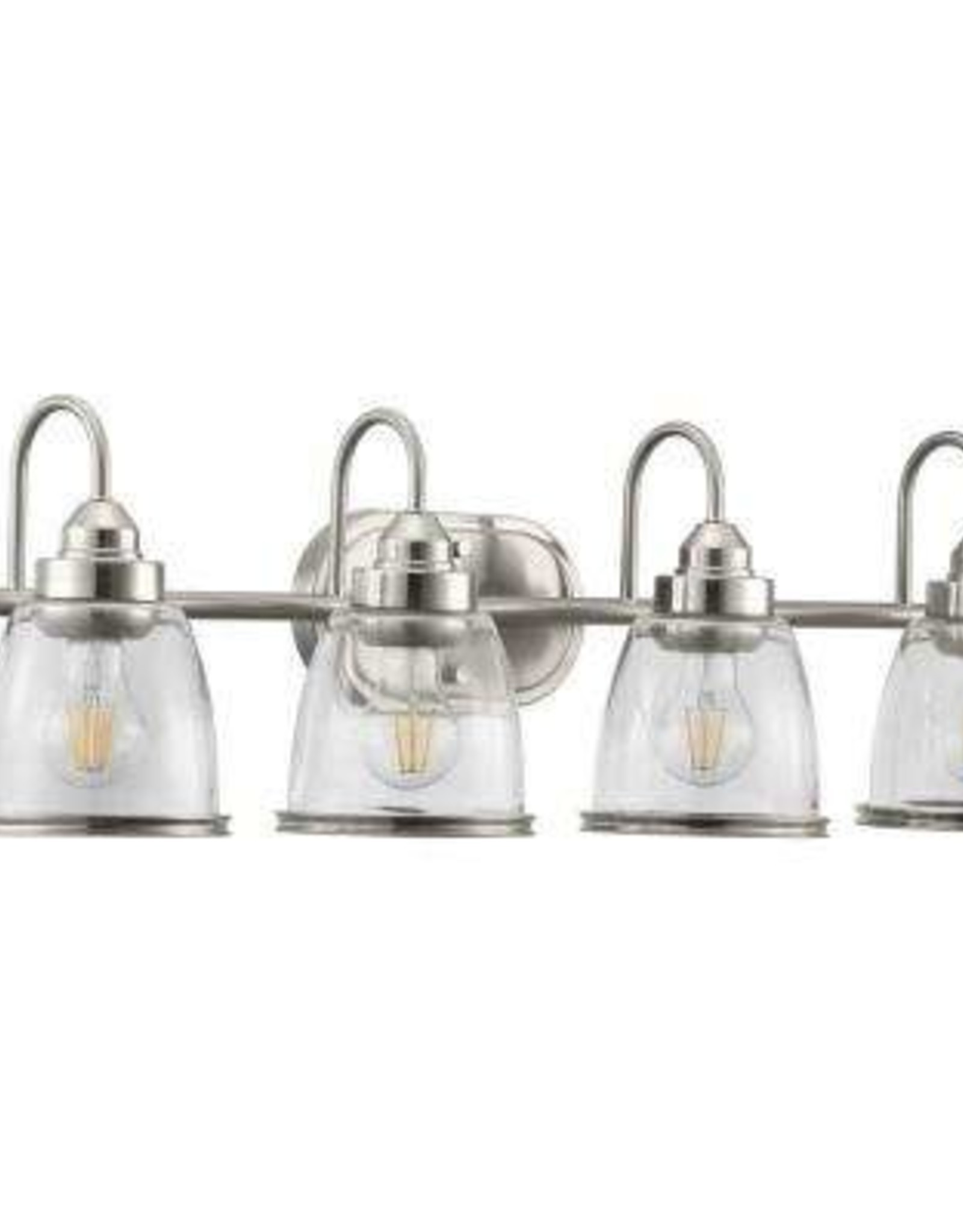 Progress Lighting Saluda Collection 4-Light Brushed Nickel Bath Light