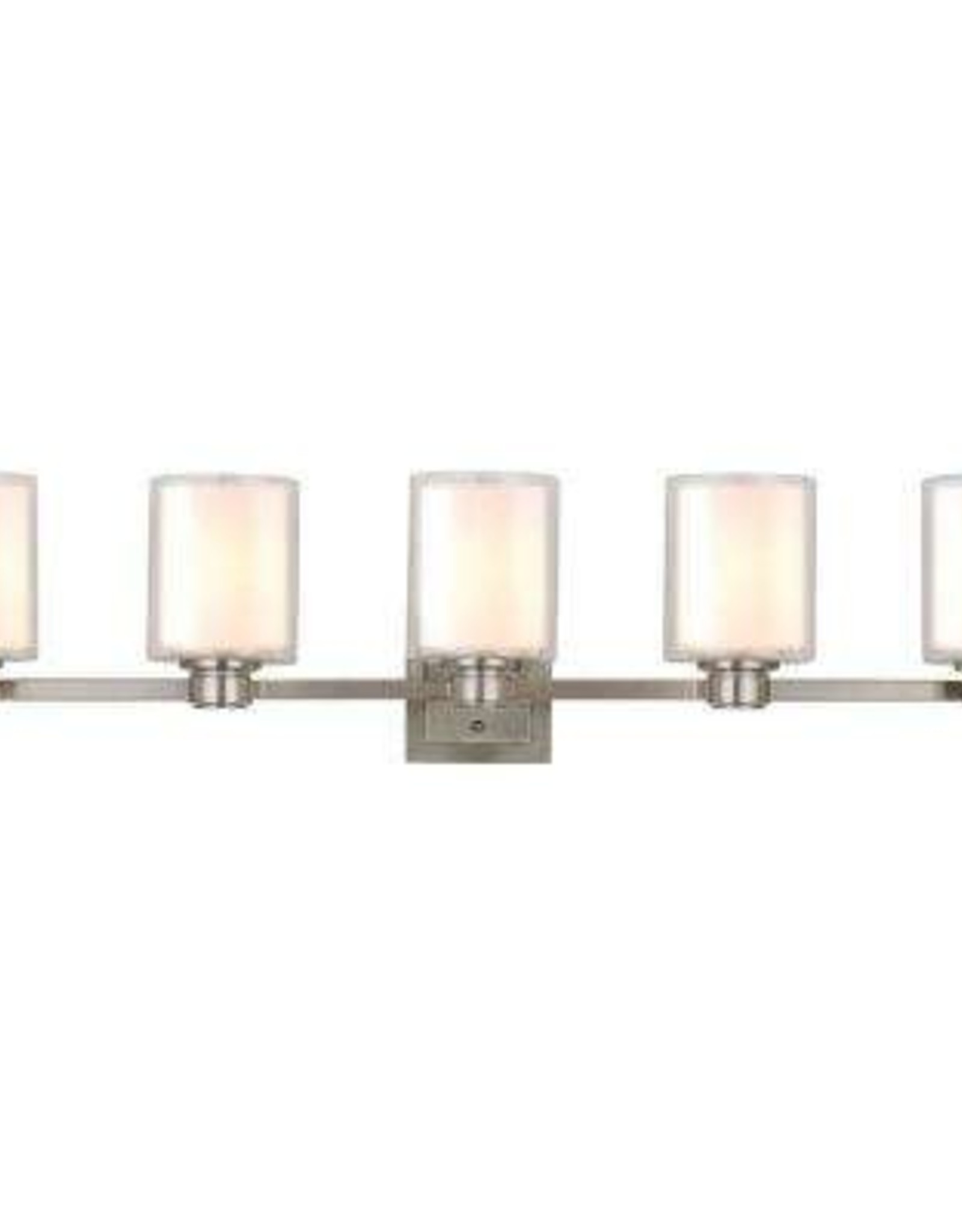 Design House Oslo 44 in. W 5-Light Brushed Nickel Vanity Light