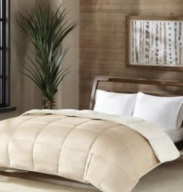 JLA Home PC Sherpa Twin Comforter TAUPE