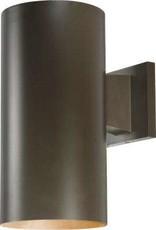 Volume Lighting Medium 1-Light Antique Bronze Aluminum Integrated LED Indoor/Outdoor Wall Mount Cylinder Light/Wall Sconce
