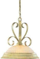 Volume Lighting Florentia 1-Light Golden Coral Interior Pendant