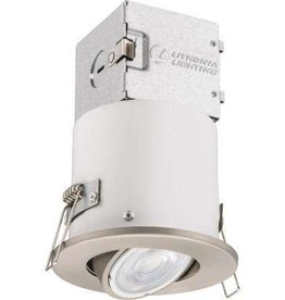 Lithonia Lighting Lithonia OneUp 3 in. Brushed Nickel Integrated LED Recessed Kit