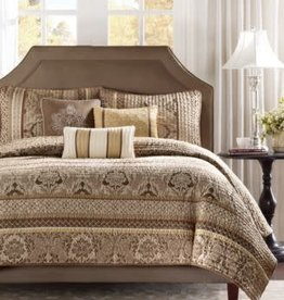 JLA Home BELLAGIO King Coverlet Set Brown