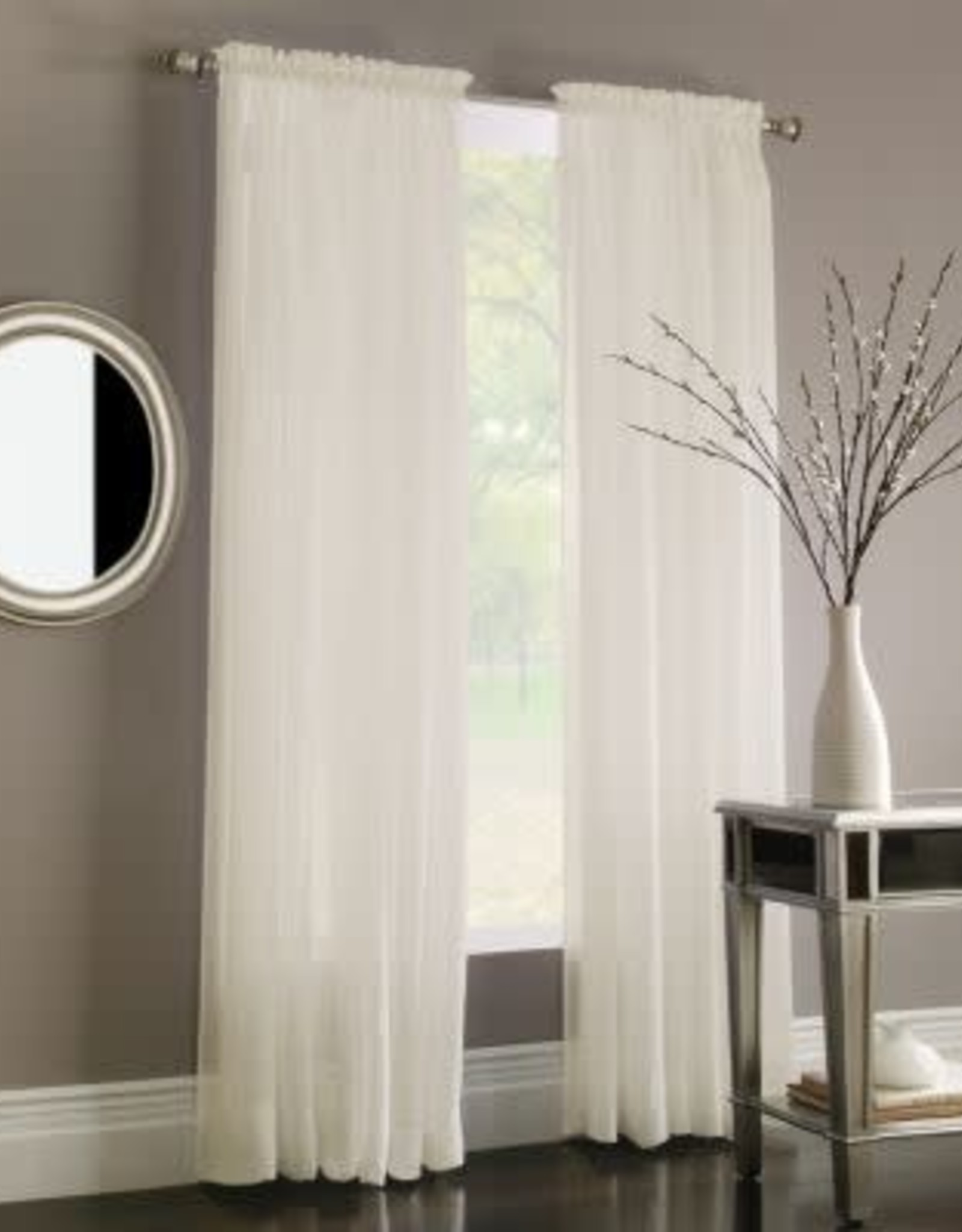 "Miller Curtains PRESTON 84"" PNL LINEN BASIC"