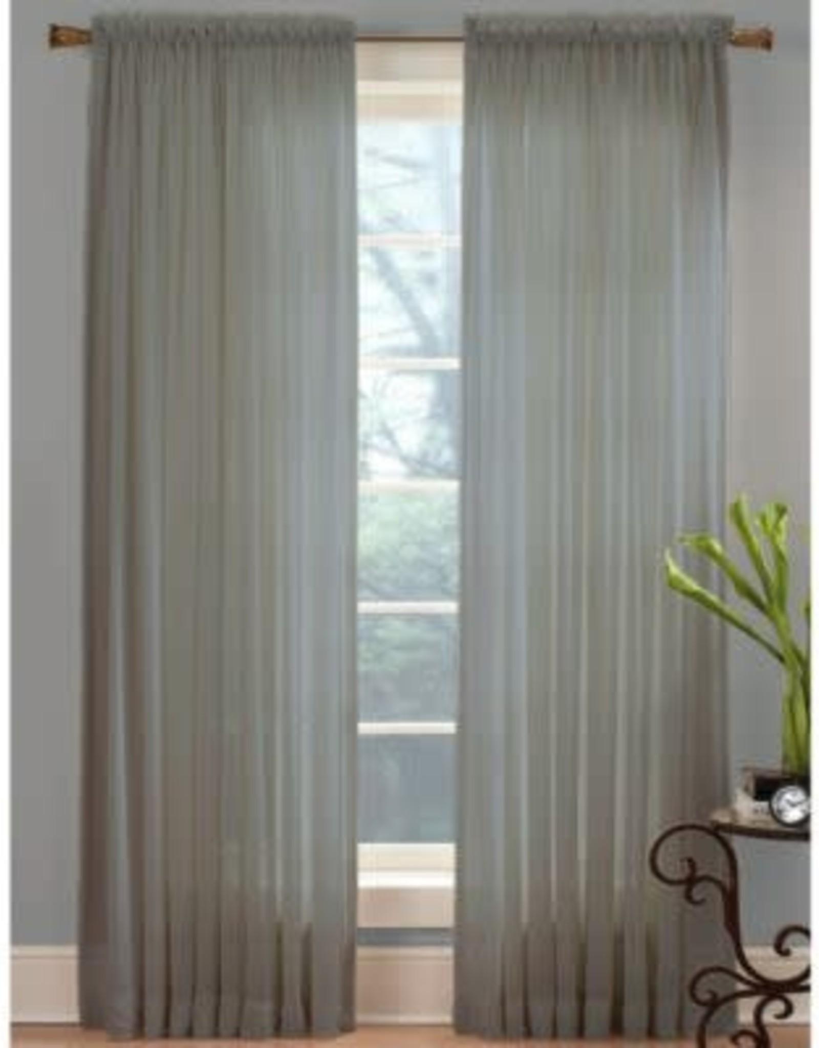 "Miller Curtains VOILE 63""L RPP COAL PANEL"