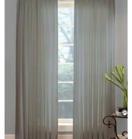 "Miller Curtains VOILE 63""L RPP COAL PANEL"
