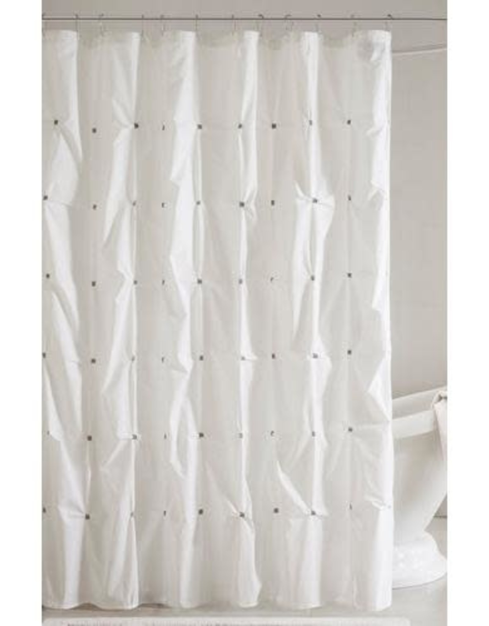 JLA Home II MASIE 72X72 Shower curtain WHITE
