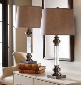 THE UTTERMOST CO SAM CRYSTAL TBLE LAMP 2PK
