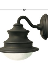 Gama Sonic Barn Solar Brown Outdoor Integrated LED Wall Light