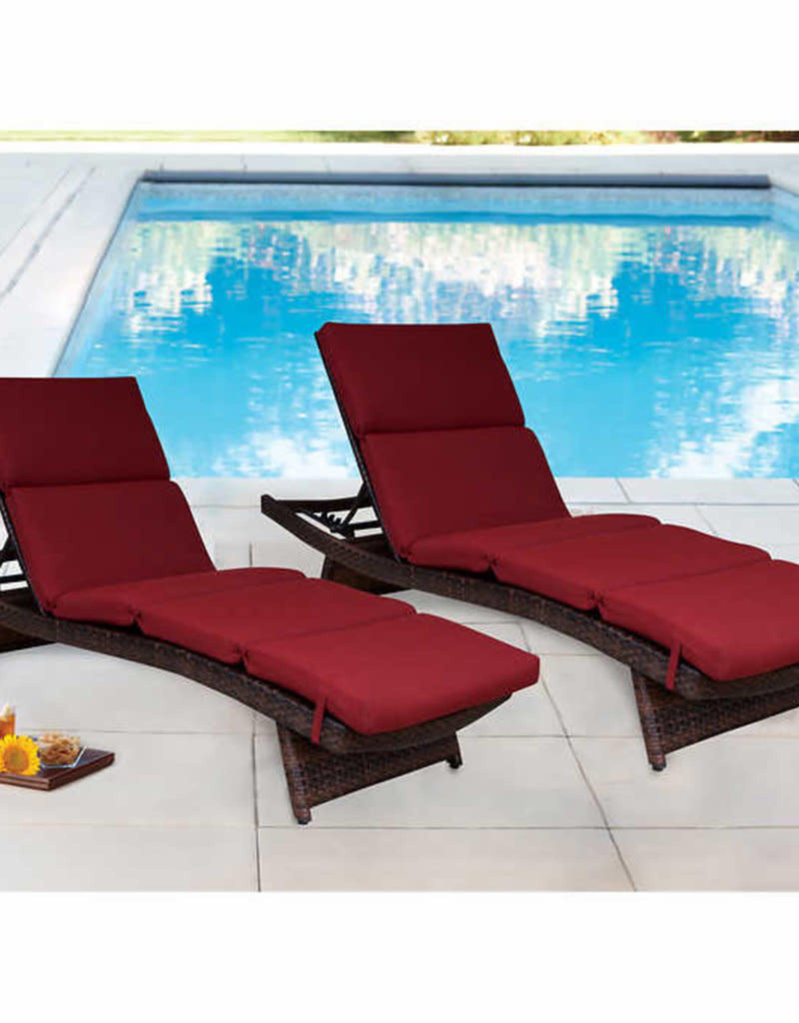 PEAK SEASON INC Chaise Lounge Cushion Ruby