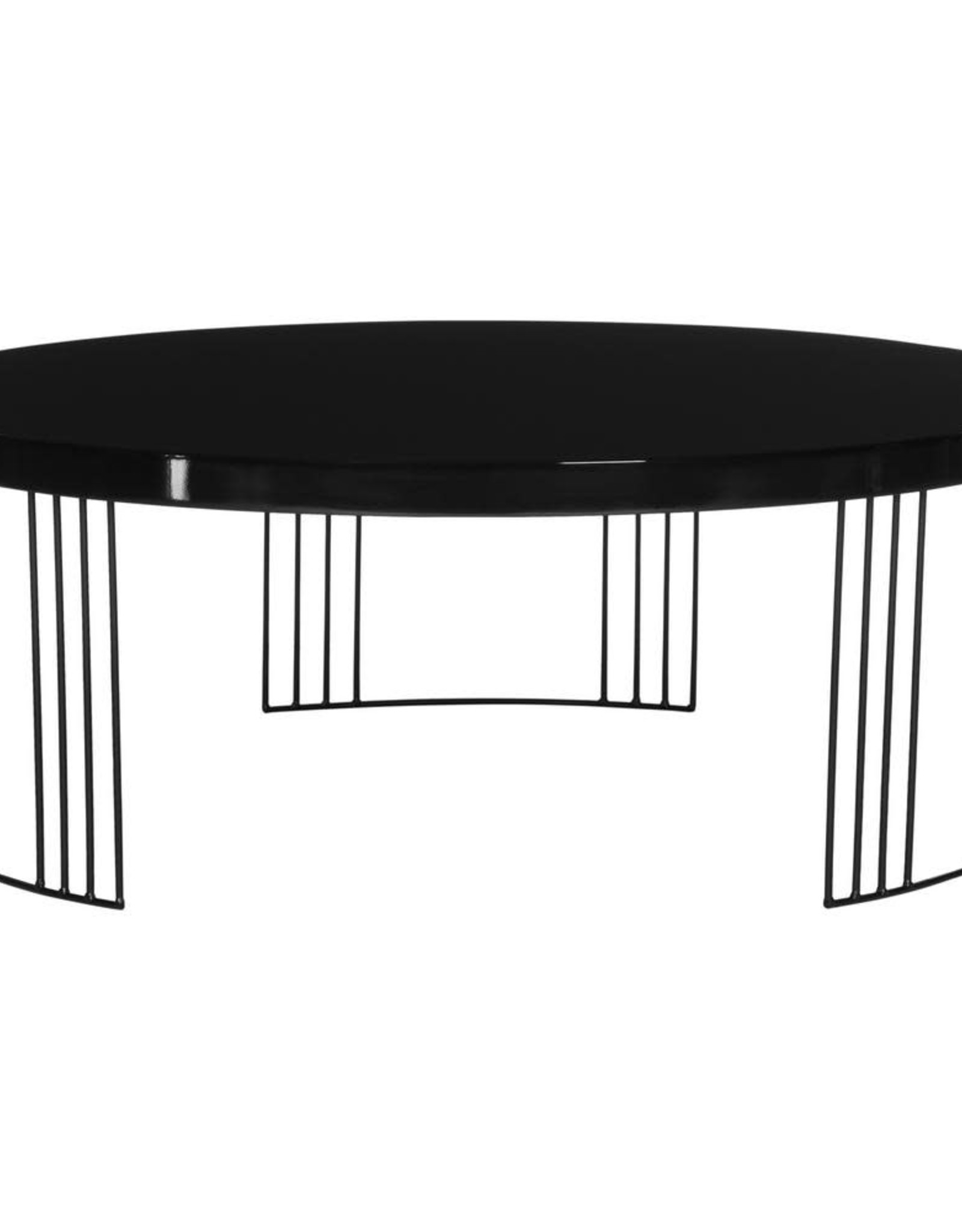 Keelin Mid Century Scandinavian Lacquer Black Coffee Table