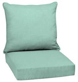 24 x 24 Aqua Leala Texture 2-Piece Deep Seating Outdoor Lounge Chair Cushion