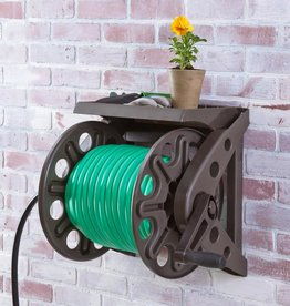 Wall Mounted Hose Reel With Shelf