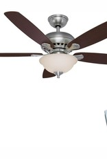 Hampton Bay Southwind 52 in. LED Indoor Brushed Nickel Ceiling Fan with Light Kit and Remote Control