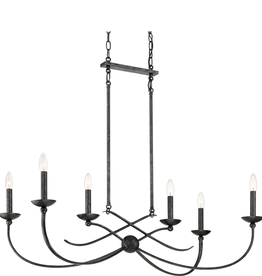 "Bellevue Bellevue Grand 6 Light 38"" Wide Taper Candle Chandelier"