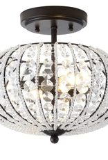 "Jonathan Y Lighting JONATHAN Y Lighting Catalina 2 Light 12"" Wide LED Semi-Flush Ceiling Fixture"