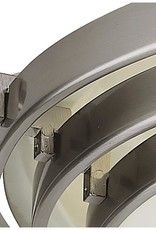 Bel Air Lighting Stewart 1-Light Brushed Nickel Halogen Flush Mount