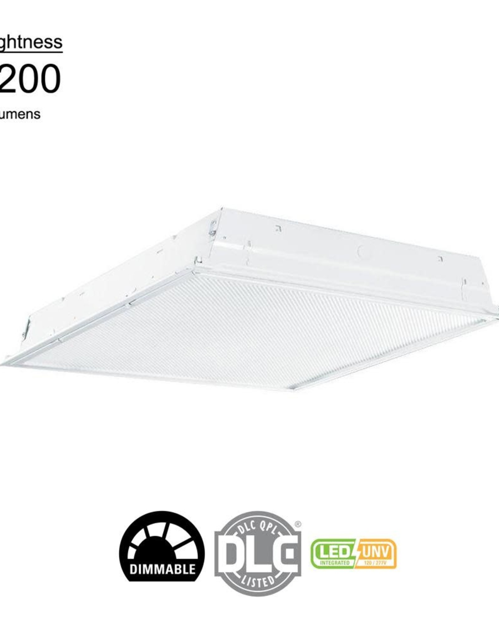 Metalux 2 ft. x 2 ft. White Integrated LED Drop Ceiling Troffer Light with 3200 Lumens, 3500K