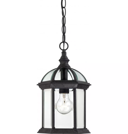 "Nuvo Lighting Nuvo Lighting Boxwood Single Light 8"" Wide Outdoor Mini Pendant with Clear Glass Shade"