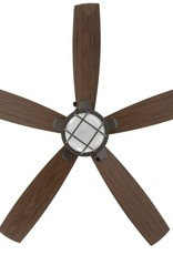 Seaport 52 in. LED Indoor/Outdoor Natural Iron Ceiling Fan with Light Kit