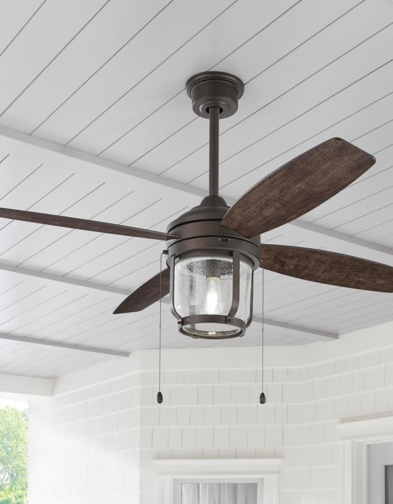 Northampton 52 in. LED Espresso Bronze Ceiling Fan with Light and WiFi Remote Control works with Google and Alexa