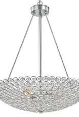 Barclay 20 in. 5-Light Chrome Crystal Chandelier