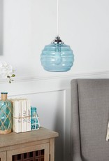 Telefor Glass 1-Light Blue Pendant